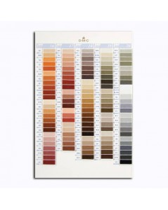 DMC Color catalogue. Samples of DMC threads. W100B. Variation, pearl, metallic, cotton. Brown, grey.