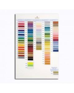 DMC Color catalogue. Samples of DMC threads. W100B. Variation, pearl, metallic, cotton. Metallic, variation, pearl.