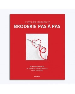 Broderie pas à pas. Embroidery step by step. Book of embroidery stitches. Marabout MAR366