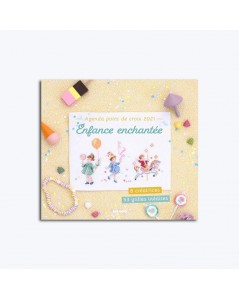 Agenda Point de Croix 2021. Enchanted childhood. Mango MG531