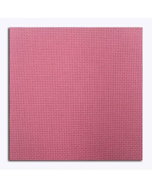 Tissu Aida coton 5,5 pts/cm, couleur rose framboise. Tissu pour la broderie eu point de croix, point compté. AI55P32