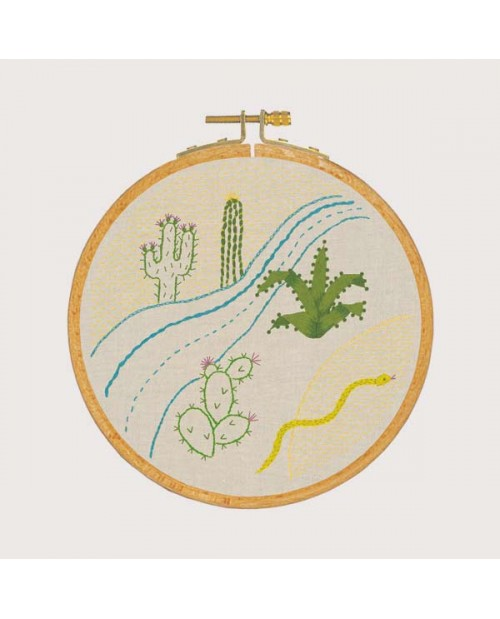 Embroidery lesson - desert ambience. Traditional embroidery kit. Le Bonheur des Dames 1541