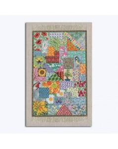 Tapis Patchwork - tapis miniature à broder au petit point, point compté. Le Bonheur des Dames 3669