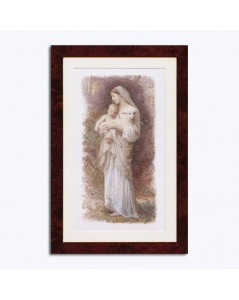 The Blessed Virgin Mary. The Virgin with the child and the lamb. Counted cross stitch embroidery kit. Thea Gouverneur G0560
