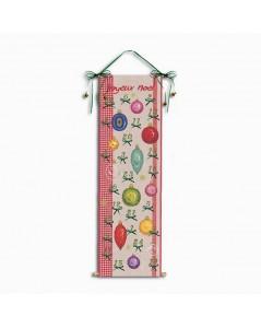 Calendrier de l'Avent Boules de Noël. Kit broderie point de croix. Le Bonheur des Dames 5093