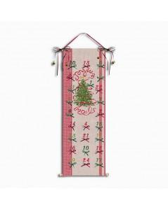 Advent calendar with Christmas tree. Cross stitch embroidery kit. Le Bonheur des Dames 5092