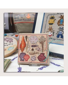 Embroidered needle case in the shop-window of our store. Motive - seashells. Le Bonheur des Dames 3475