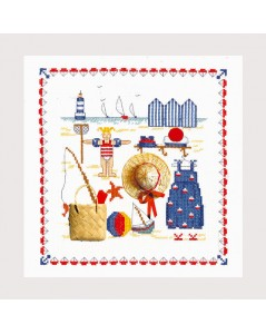 Sea accessories. Picture embroidered by counted cross stitch. Le Bonheur des Dames 2610