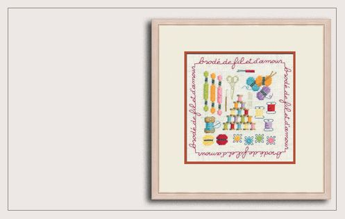 Counted cross stitch kit Stitched with thread and with love 2278 Le Bonheur des Dames