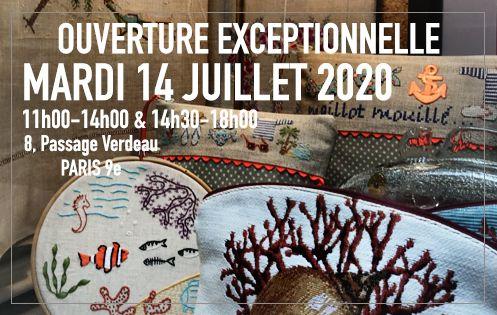 Ouverture exceptionnelle 14 juillet 2020. 8, Passage Verdeau Paris 9e. Le Bonheur des Dames