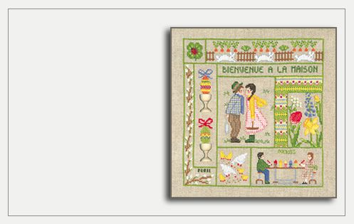 Welcome April. Counted cross stitch kit 2653. Le Bonheur des Dames
