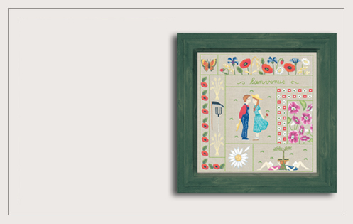 Welcome August. Printed kit. Traditional embroidery. Le Bonheur des Dames 7708