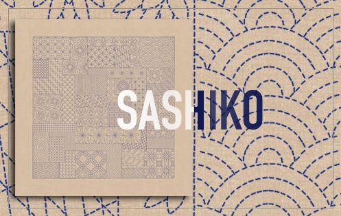 Nappe Sashiko n° 6118. Le Bonheur des Dames