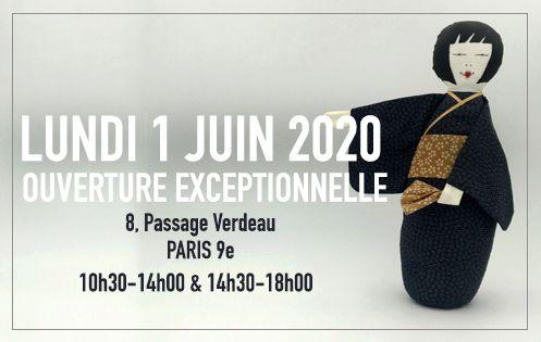 Ouverture Boutique Lundi 1 Juin 2020. 8, Passage Verdeau Paris 9e