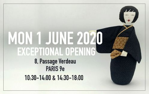 Exceptional opening on Monday 1st of June 2020. 8 Passage Verdeau Paris 9