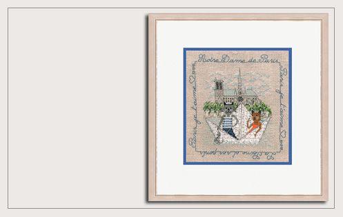 Counted cross stitch kit. 2279. Le Bonheur des Dames. A River ride near Notre Dame
