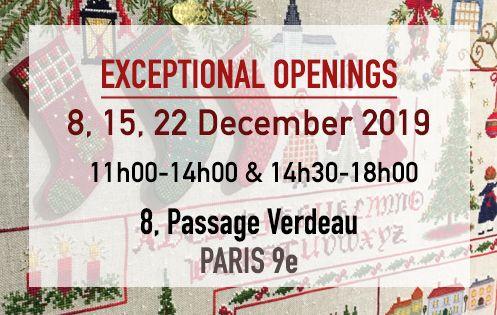 Exceptional openings in December. Le Bonheur des Dames. 8, Passage Verdeau Paris 9