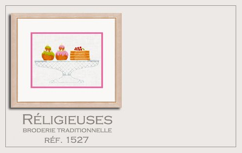 religieuses gâteau kit imprimé n° 1527 broderie traditionnelle