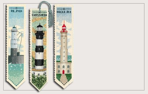 Lighthouses. Bookmarks. Counted cross stitch kit. Series 45