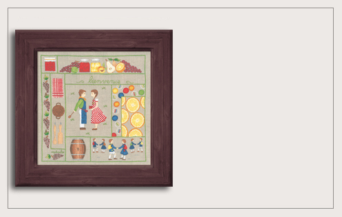 Welcome September. Printed kit, traditional embroidery. Le Bonheur des Dames 7709