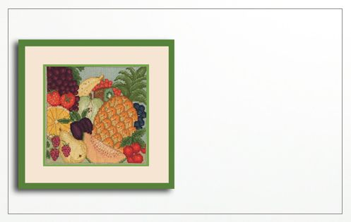 Fruits. Counted cross stitch kit. Le Bonheur des Dames 1093