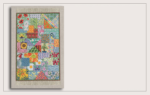 Patchwork Carpet Miniature. Petit Point. Le Bonheur des Dames 3669