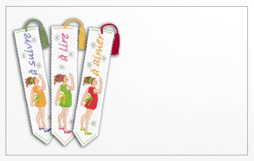 Bookmarks. Counted cross stitch kit. Le Bonheur des Dames 4551, 4552, 4553