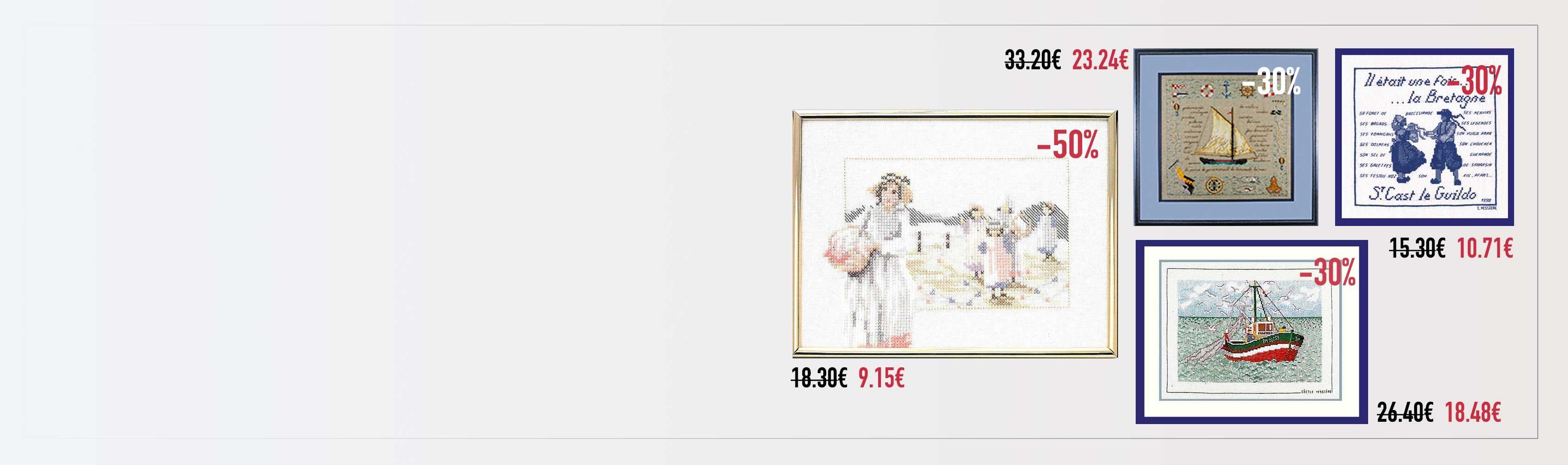 Kits n° 33896, 1130, 1894, 1118 Le Bonheur des Dames