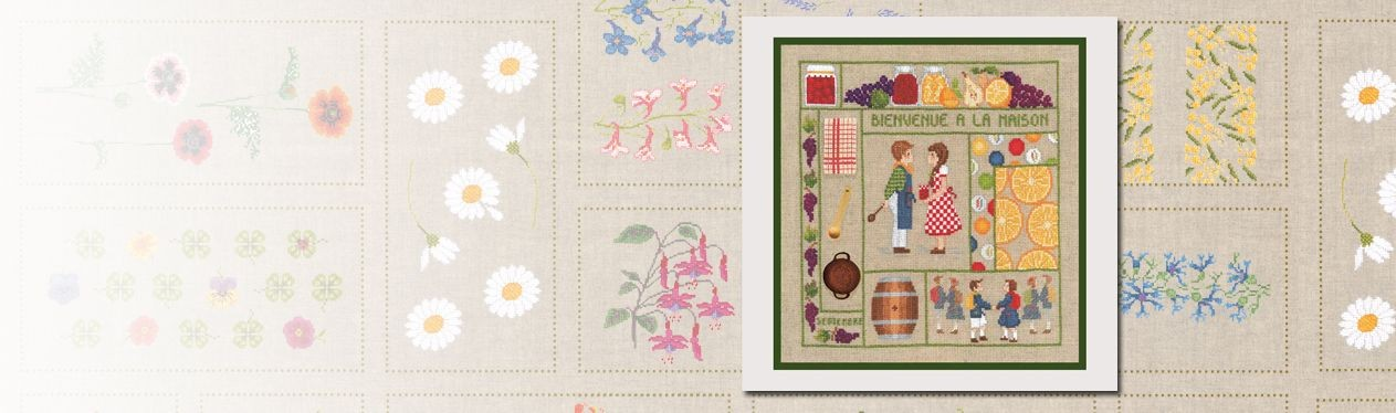 Embroidery kit Welcome September Le Bonheur des Dames