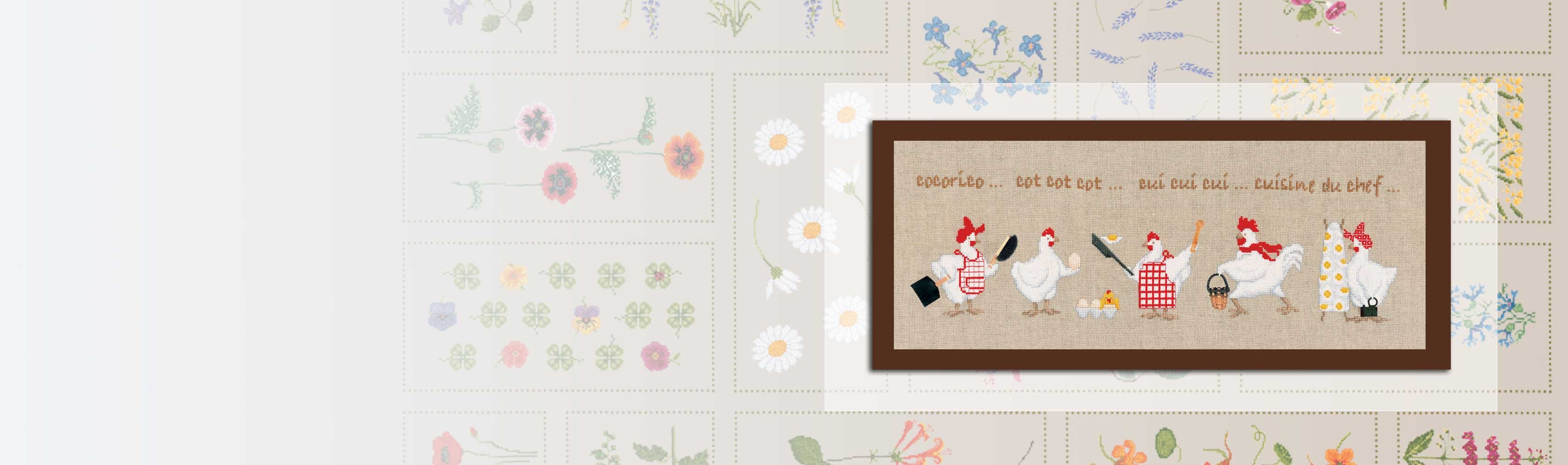 Little Housewives. Item n° 1058. Counted cross stitch kit on Aida linen