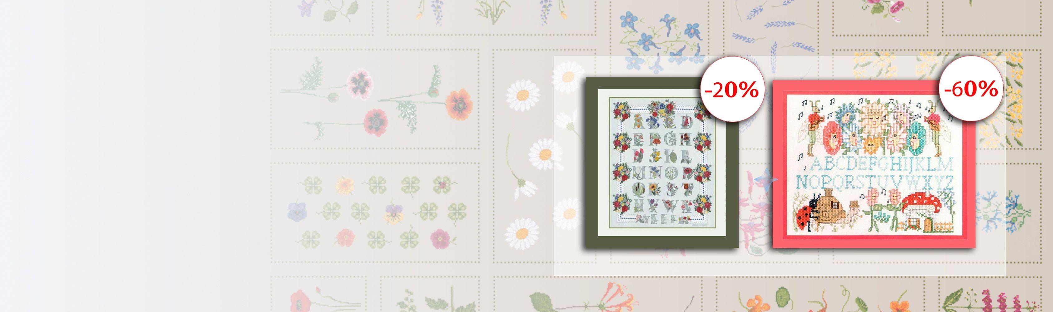 Counted cross stitch samplers en SALE - Le Bonheur des Dames