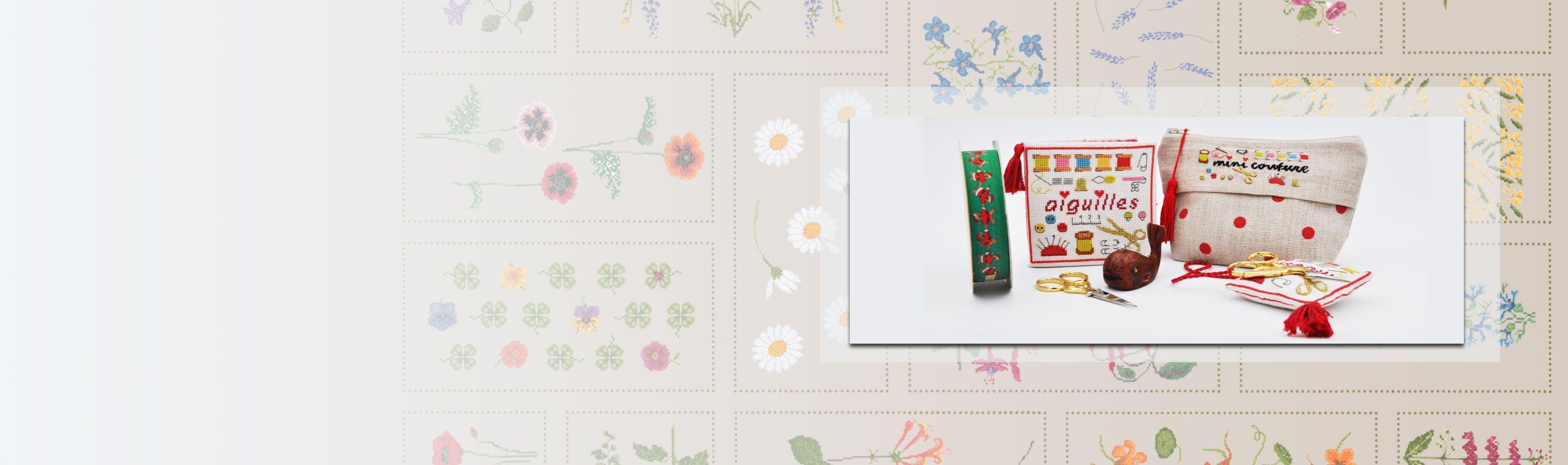 Kits broderie par Cécile Vessière pour Le Bonheur des Dames