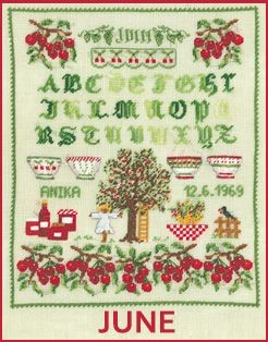 Petit point embroidery kit. Alphabet June. Item n° 3630