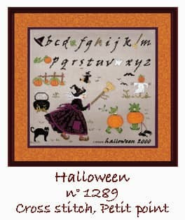 Witches Alphabet Cross stitch and petit point. Le Bonheur des Dames n° 1289