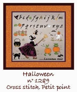 Witches Alphabet Cross stitch and petit point. Le Bonheur des Dames n° 1289