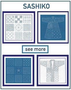 Sashiko style mebroidery kits. Series 38
