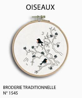 Oiseaux. Kit ipmrimé, broderie tradtionnelle. Le Bonheur des Dames. 1545